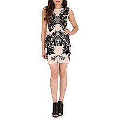 Izabel London - Natural printed bodycon dress