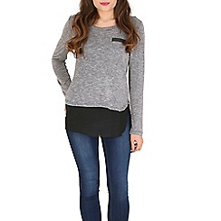 Izabel London - Grey monochrome jumper