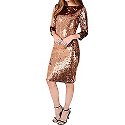 Alice & You - Metallic sequin sleeved bodycon dress