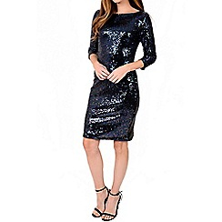 Alice & You - Plum sequin sleeved bodycon dress