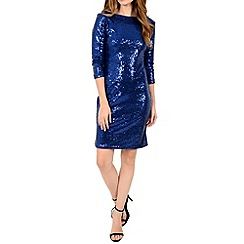 Alice & You - Blue sequin sleeved bodycon dress