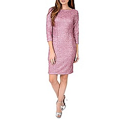 Alice & You - Pink sequin sleeved bodycon dress