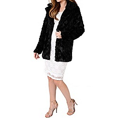 Alice & You - Black long faux fur coat