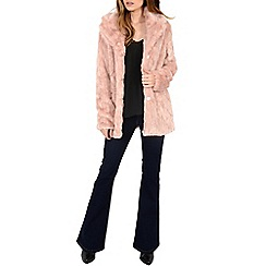 Alice & You - Pink long faux fur coat