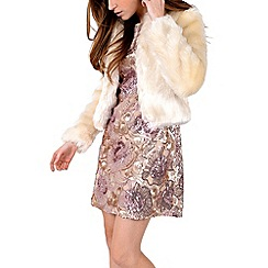 Alice & You - Beige fur coat