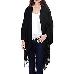 Alice & You - Black tassle blanket cape