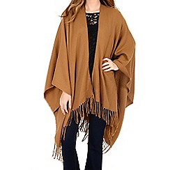 Alice & You - Camel tassle blanket cape