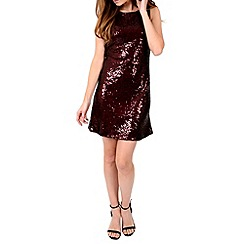Alice & You - Dark red sequin sleeveless shift dress