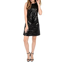 Alice & You - Black sequin sleeveless shift dress