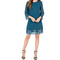 Alice & You - Turquoise embellished tunic dress
