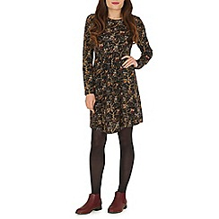 Tenki - Black owl print tunic dress