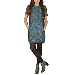 Amaya - Blue jaquard shift dress