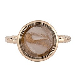 The Genuine Gemstone Company - Gold quartz vermeil ring