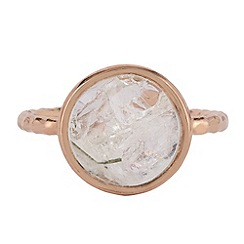 The Genuine Gemstone Company - Gold moonstone rose gold vermeil ring