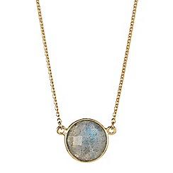 Gemporia - Grey labradorite vermeil necklace 3.37cts