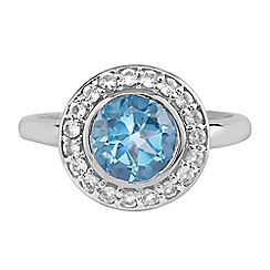 The Genuine Gemstone Company - Blue topaz sterling silver ring