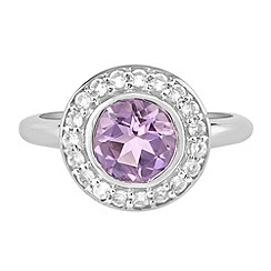 The Genuine Gemstone Company - Silver amethyst sterling silver ring