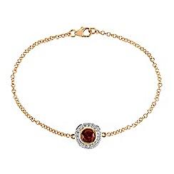 Gemporia - Gold garnet vermeil bracelet 1.54cts