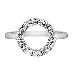 The Genuine Gemstone Company - White diamond sterling ring