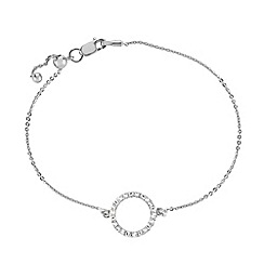 The Genuine Gemstone Company - White diamond sterling bracelet
