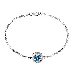 The Genuine Gemstone Company - Blue topaz sterling silver bracelet