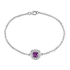 Gemporia - Purple amethyst sterling silver bracelet