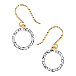 The Genuine Gemstone Company - White diamond vermeil earrings
