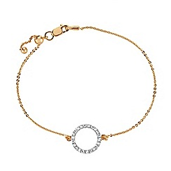 The Genuine Gemstone Company - White diamond vermeil bracelet