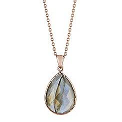 Gemporia - Grey labradorite pendant necklace