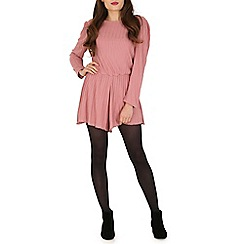 Damned Delux - Pink long sleeve playsuit
