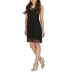 Voulez Vous - Black beaded mesh swing dress