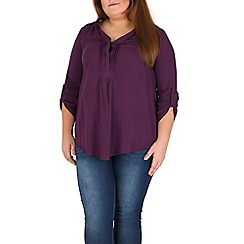 Samya - Purple button detail top