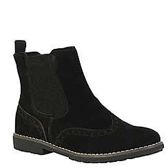 Keddo - Black brogue ankle boots