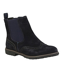 Keddo - Navy brogue ankle boot