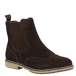 Keddo - Brown brogue ankle boot