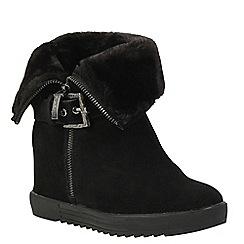 Keddo - Black wedge suede boots