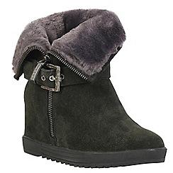 Keddo - Grey wedge suede boots