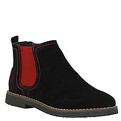 Keddo - Black red panel boots