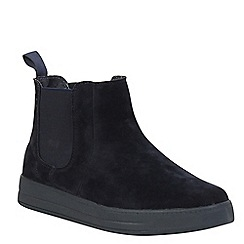 Keddo - Navy high top skater shoe