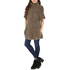 Amaya - Black cowl neck knitted tunic