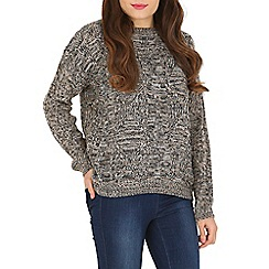 Amaya - Brown cable knit jumper
