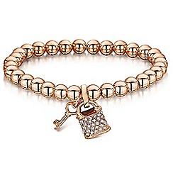 Buckley London - Gold padlock & key bracelet
