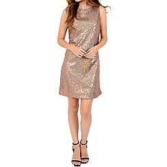 Alice & You - Gold sequin sleeveless shift dress