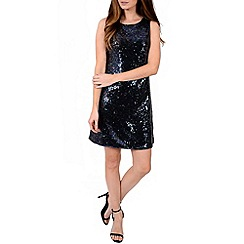 Alice & You - Purple sequin sleeveless shift dress
