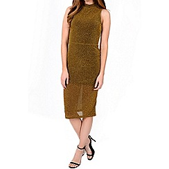 Alice & You - Metallic high neck bodycon dress