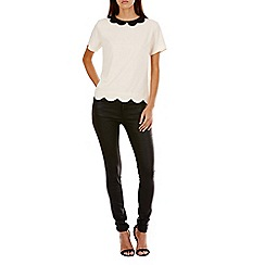 Sugarhill Boutique - Cream elsa scallop top