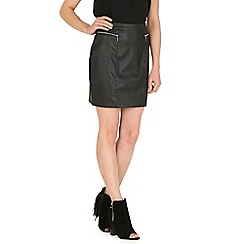 Sugarhill Boutique - Black keira pu skirt