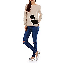 Sugarhill Boutique - Cream nita sausage dog sweater