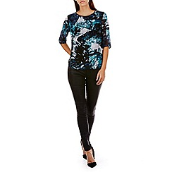 Sugarhill Boutique - Turquoise evey ice print top