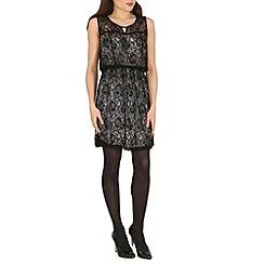 Voulez Vous - Black lace overlay skater dress